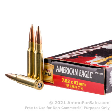 20 Rounds of 168gr OTM 7.62x51mm Ammo by Federal