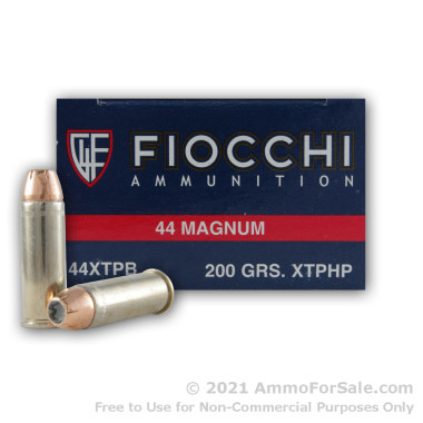 50 Rounds of 200gr JHP .44 Mag Ammo by Fiocchi