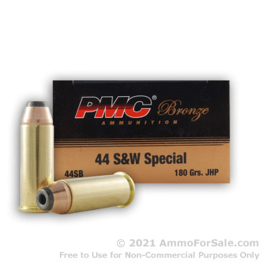 50 Rounds of 180gr JHP .44 S&W Spl Ammo by PMC