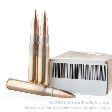 15 Rounds of 196gr FMJ 8 mm Mauser Ammo by Military Surplus