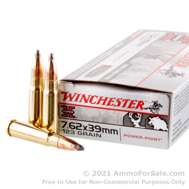 20 Rounds of 123gr SP 7.62x39mm Ammo by Winchester Super-X