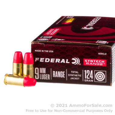 500 Rounds of 124gr Total Synthetic Jacket 9mm Ammo by Federal