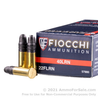 50 Rounds of 40gr LRN .22 LR Ammo by Fiocchi