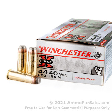 50 Rounds of 200gr SP .44-40 Winchester Ammo by WinchesterSuper-X