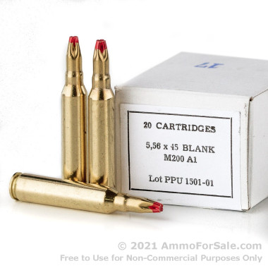20 Rounds of  Blanks .223 Ammo by Prvi Partizan