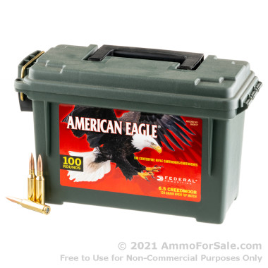 100 Rounds of 120gr OTM 6.5 Creedmoor Ammo by Federal in Field Box