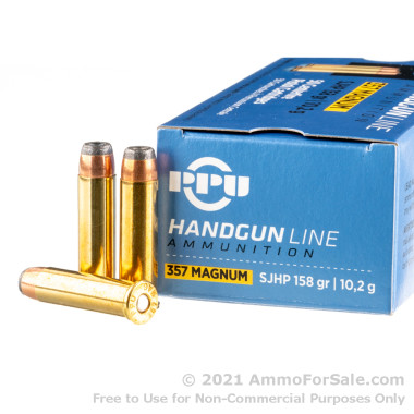 50 Rounds of 158gr SJHP .357 Mag Ammo by Prvi Partizan
