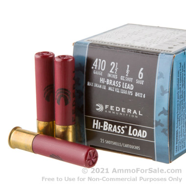 250 Rounds of  #6 shot .410 Ammo by Federal