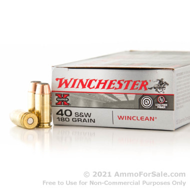 50 Rounds of 180gr BEB .40 S&W Ammo by Winchester - Law Enforcement Trade-In