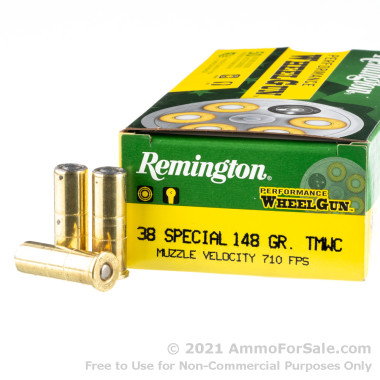 50 Rounds of 148gr LWC .38 Special Ammo by Remington