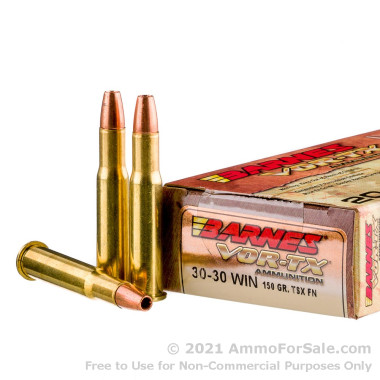 20 Rounds of 150gr TSX 30-30 Win Ammo by Barnes