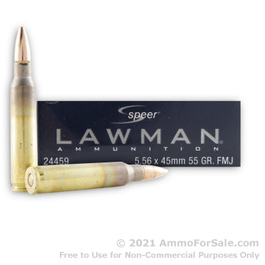 20 Rounds of 55gr FMJ 5.56x45 Ammo by Speer