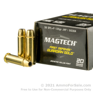 20 Rounds of 125gr JHP .38 Spl Ammo by Magtech