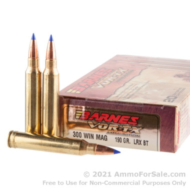 20 Rounds of 130gr Polymer Tipped .300 Win Mag Ammo by Barnes
