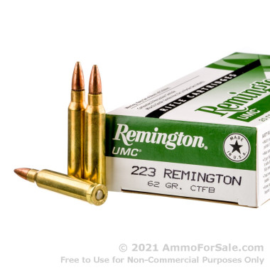 20 Rounds of 62gr CTFB .223 Ammo by Remington