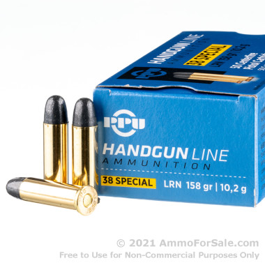 500  Rounds of 158gr LRN .38 Spl Ammo by Prvi Partizan