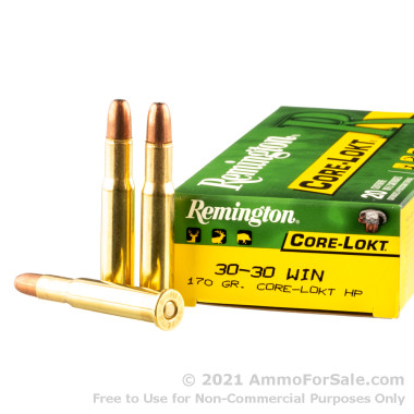 20 Rounds of 170gr Core-Lokt HP 30-30 Win Ammo by Remington