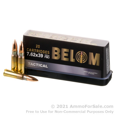 480 Rounds of 123gr FMJ 7.62x39 Ammo by Belom
