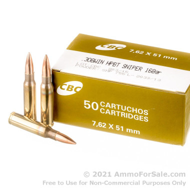 50 Rounds of 168gr HPBT .308 Win Ammo by Magtech Sniper Match