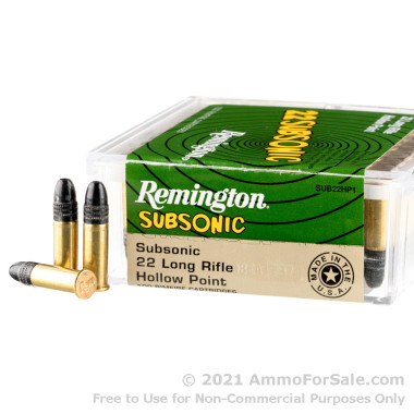 50 Rounds of 38gr LHP .22 LR Ammo by Remington