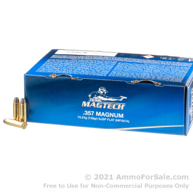250 Rounds of 158gr SJSP .357 Mag Ammo by Magtech