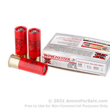 250 Rounds of 1 ounce Rifled Slug 12ga Ammo by Winchester