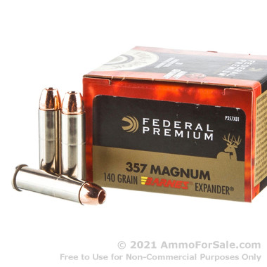 20 Rounds of 140gr XPB HP .357 Mag Ammo by Federal Vital-Shok