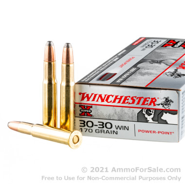 20 Rounds of 170gr Power-Point 30-30 Win Ammo by Winchester