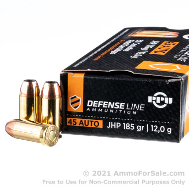 500  Rounds of 185gr SJHP .45 ACP Ammo by Prvi Partizan