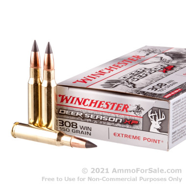 20 Rounds of 150gr Extreme Point .308 Win Ammo by Winchester
