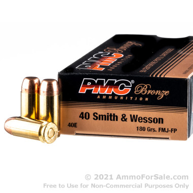 1000 Rounds of 180gr FMJFN .40 S&W Ammo by PMC