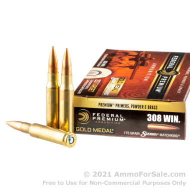 20 Rounds of 175gr HPBT .308 Win Ammo by Federal