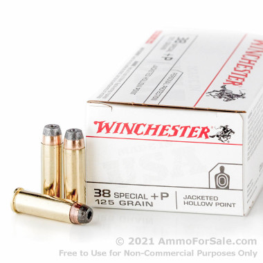 500  Rounds of 125gr JHP .38 Spl Ammo by Winchester USA