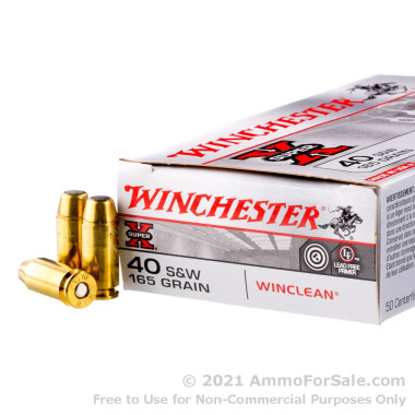 500  Rounds of 165gr BEB .40 S&W Ammo by Winchester