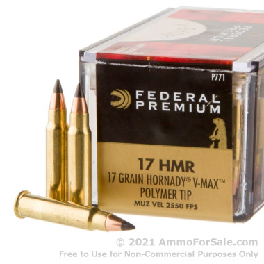 50 Rounds of 17gr Polymer Tipped .17HMR Ammo by Federal