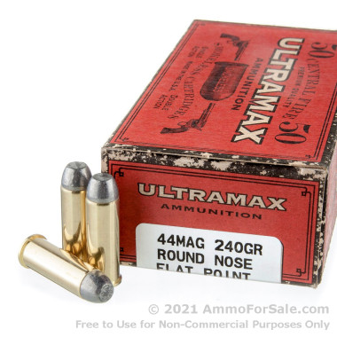 50 Rounds of 240gr LFN .44 Mag Ammo by Ultramax