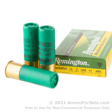 5 Rounds of  #4 Buck 12ga Ammo by Remington