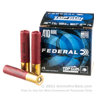 25 Rounds of 1/2 ounce #7 1/2 .410 Bore Ammo by Federal
