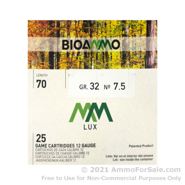 250 Rounds of 1-1/8 ounce #7.5 shot 12ga Ammo by BioAmmo