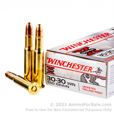 20 Rounds of 150gr JHP 30-30 Win Ammo by Winchester