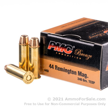 50 Rounds of 240gr TC-SP .44 Mag Ammo by PMC