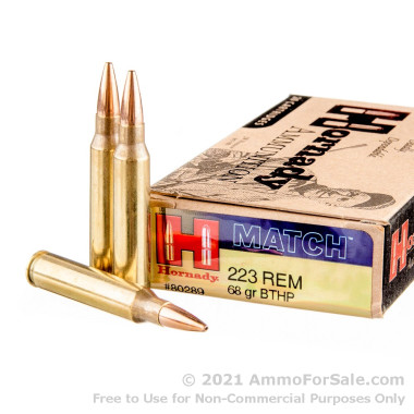 20 Rounds of 68gr HPBT .223 Ammo by Hornady