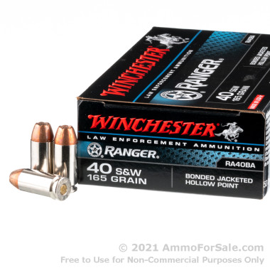 500  Rounds of 165gr JHP .40 S&W Ammo by Winchester