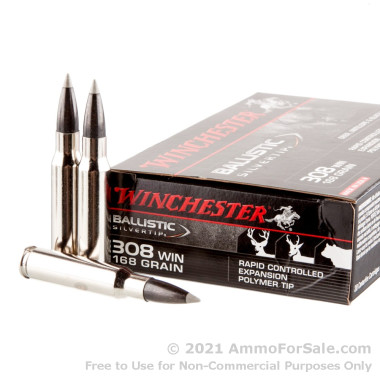 20 Rounds of 168gr Polymer Tipped .308 Win Ammo by Winchester
