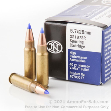 500 Rounds of 40gr V-MAX 5.7x28mm Ammo by FN Herstal