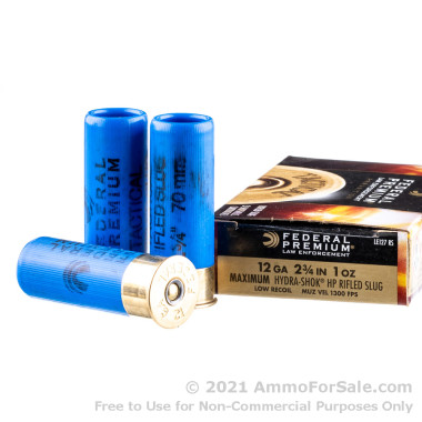 250 Rounds of 1 ounce Rifled Slug 12ga Ammo by Federal
