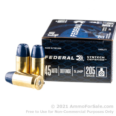 20 Rounds of 205gr SHP .45 ACP Ammo by Federal