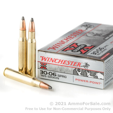 20 Rounds of 165gr PSP 30-06 Springfield Ammo by Winchester
