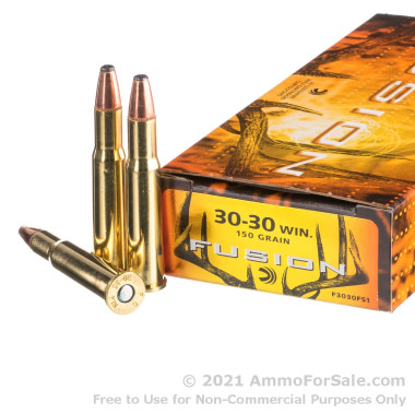 200 Rounds of 150gr Fusion 30-30 Win Ammo by Federal