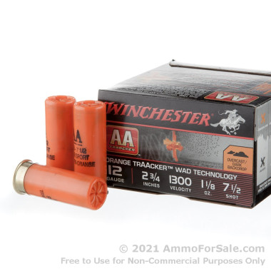 """25 Rounds of 2-3/4"""" #7.5 Shot 12ga Ammo by Winchester AA TrAAcker"""